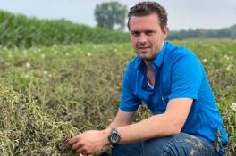 Boer Daan ziet 75 hectare met aardappelen, mais en bieten kopje onder gaan