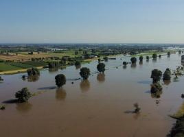 Negatief zwemadvies voor 16 plekken aan de Maas door hoogwater
